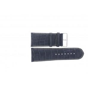 Echt lederen band croco donker blauw WP-61324.36mm