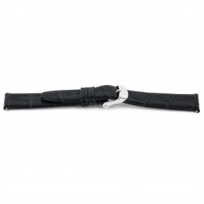 Horlogeband Universeel C627 Leder Blauw 12mm