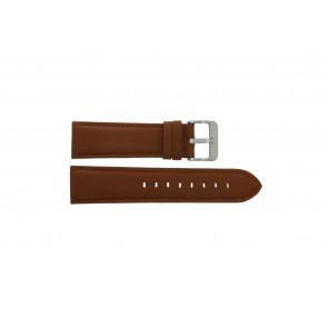 Horlogeband Condor 632.3.24 WATERPROOF Leder Cognac 24mm
