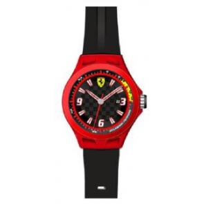 Horlogeband Ferrari SF-01-1-47-0005 / 689300004 Silicoon Zwart