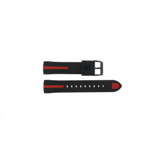 Ferrari horlogeband SF-06-1-34-00055 / 689300018 / 80-17080186 Rubber Zwart 22mm