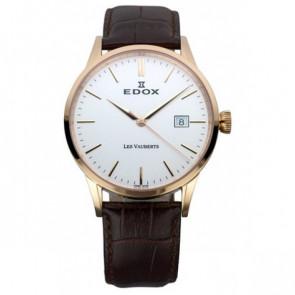 Horlogeband Edox 70162 / 493467 Leder Donkerbruin 20mm