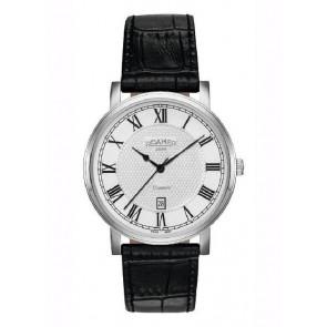 Horlogeband Roamer 709856-41-22-07 Leder Zwart 22mm