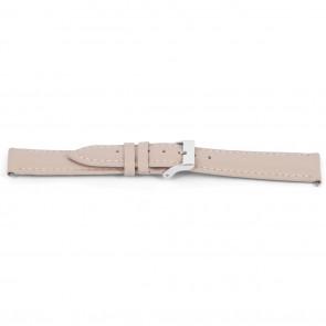 Horlogeband Universeel D716 Leder Roze 14mm