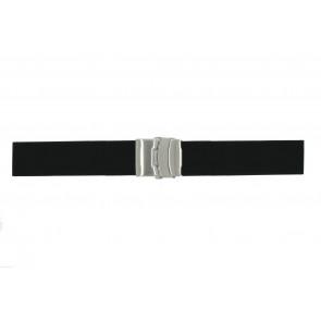 Horlogeband Universeel 78050.22 Rubber Zwart 22mm