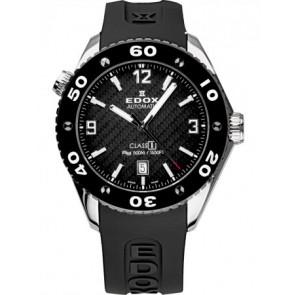 Horlogeband Edox 80061 Silicoon Zwart 22mm