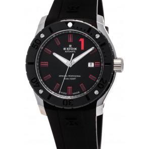 Horlogeband Edox 80088 Silicoon Zwart 24mm