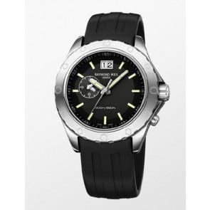 Horlogeband Raymond Weil SU2201-8200-18 / 8200 Rubber Zwart 22mm