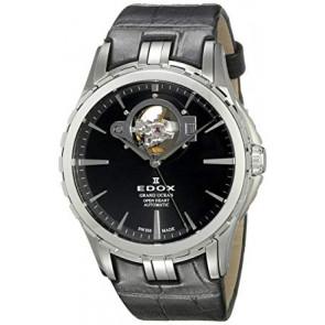 Horlogeband Edox LA-73/437876/85008 Leder Zwart 20mm