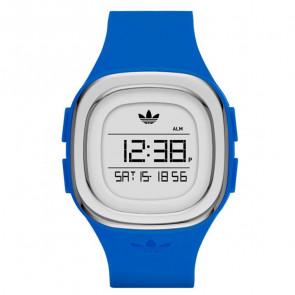 Horlogeband (Band + Kastcombinatie) Adidas ADH3034 Kunststof/Plastic Blauw