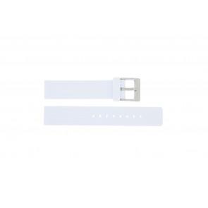 Horlogeband Adidas ADH3187 / ADH3188 Rubber Wit 17mm