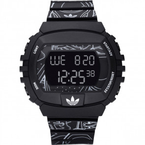 Horlogeband Adidas ADH6096 Kunststof/Plastic Zwart 15mm