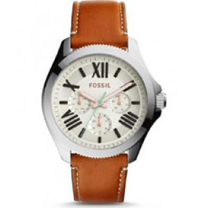 Horlogeband Fossil AM4638 Leder Oranje 20mm