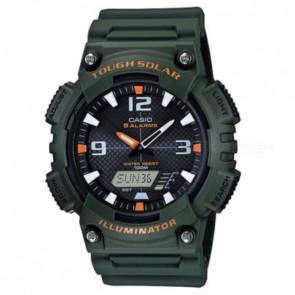 Horlogeband Casio AQS810W-3AV / 10410730 Rubber Groen