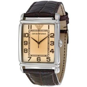 Horlogeband Armani AR0490 Leder Bruin