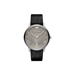 Horlogeband Armani AR1612 Leder Zwart