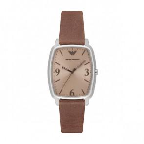 Horlogeband Armani AR2489 Leder Cognac 18mm