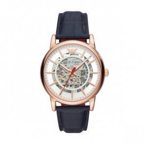 Horlogeband Armani AR60009 Leder Blauw 22mm