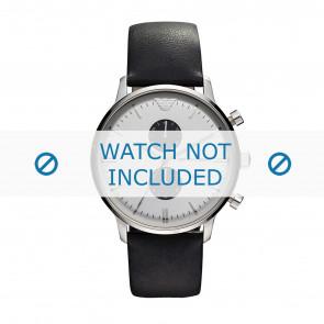 Horlogeband Armani AR0385 Leder Zwart 22mm