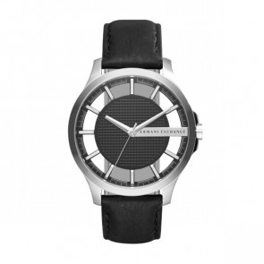 Horlogeband Armani Exchange AX2186 Leder Zwart