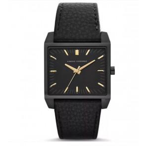 Horlogeband AX2217 Leder Zwart 28mm
