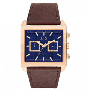 Horlogeband AX2225 Leder Bruin 28mm