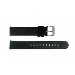 Horlogeband Mondaine BM20026 Leder Zwart 16mm