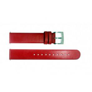 Horlogeband Mondaine BM20030 / FE3118.30Q Leder Rood 18mm