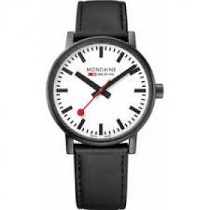 Mondaine horlogeband BM20050 / FE3118.21Q.2 Leder Zwart 18mm