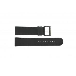 Horlogeband Mondaine BM20054-W Leder Zwart 22mm