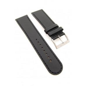 Mondaine horlogeband BM20056 / FE19424.20Q Leder Zwart 24mm + standaard stiksel