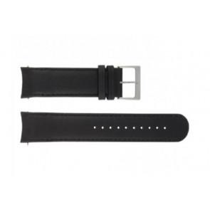 Mondaine horlogeband BM20086 / FE23122.20Q.2 Leder Zwart 22mm + standaard stiksel
