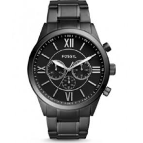Horlogeband Fossil BQ1127 Roestvrij staal (RVS) Zwart 26mm