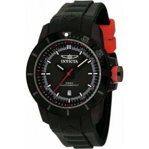 Horlogeband Invicta 10735.01 Rubber Zwart