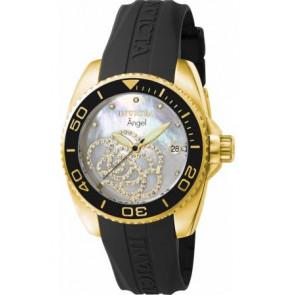 Horlogeband Invicta 0489 / 0489.01 Rubber Zwart
