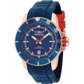 Horlogeband Invicta 10736.01 Rubber Blauw