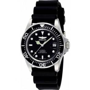 Horlogeband Invicta 9110.01 Kunststof/Plastic Zwart 20mm