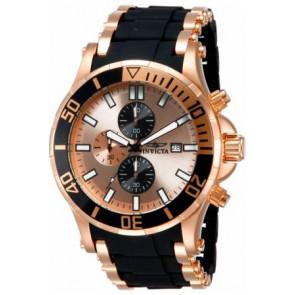 Horlogeband Invicta 1479.01 Staal/Silicoon Zwart 26mm
