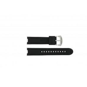 Horlogeband Buddha to Buddha BTB.M.R.3H.2.2 / MR.3H.3.2 Rubber Zwart 21mm