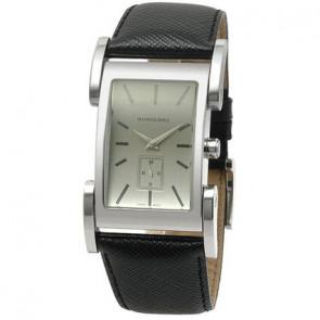 Horlogeband Burberry BU1100 Leder Zwart