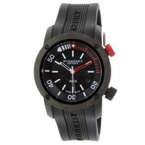Horlogeband Burberry BU7720 Rubber Zwart