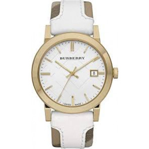 Horlogeband Burberry BU9015 / Antima 31354 Kunststof/Plastic Wit