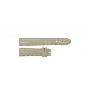 Burberry horlogeband BU9118 Leder Cream wit / Beige / Ivoor 18mm + standaard stiksel