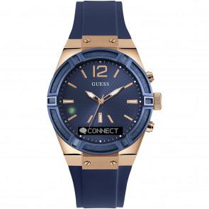 Horlogeband Guess C0002M1 Rubber Blauw