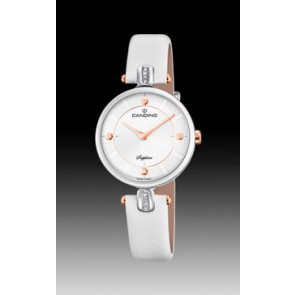 Horlogeband Candino C4658-1 Leder Wit