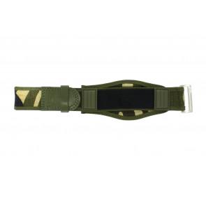 Horlogeband Camel Active Klittenband Groen 26mm