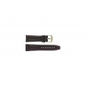 Horlogeband Camel 6420-6429 Leder Donkerbruin 24mm
