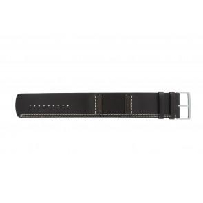 Horlogeband Camel BC51024 / 3422-3429 Leder Donkerbruin 26mm