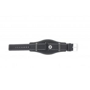 Horlogeband Camel BC51040 Leder Zwart 22mm