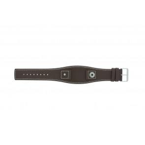 Horlogeband Camel BC51049 Leder Bruin 18mm